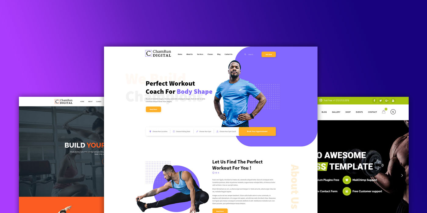 Chamwebdesign-gym